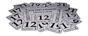 адресные таблички на металле
